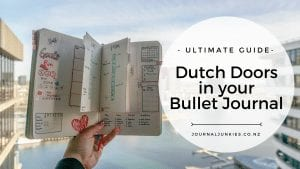 Ultimate guide, how to create dutch doors in your bullet journal