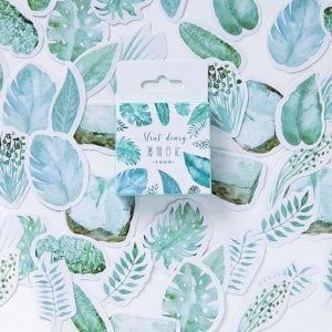 faded ferns decorative scrapbook sticker pack
