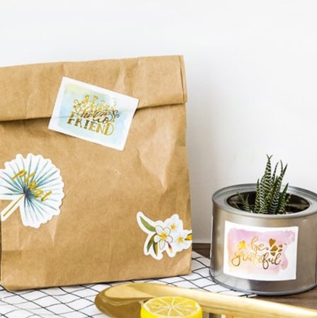 Decorative stickers example for your craft projects