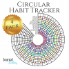 Circular habit tracker 4 pack pdf download cover image