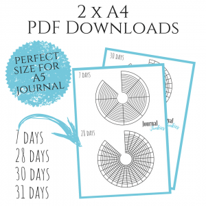 picture relating to Bullet Journal Habit Tracker Printable identified as Round Pattern Tracker 4-Pack PDF Obtain Printable
