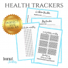 habit health trackers bullet journal printable download step calorie water