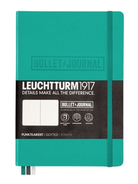 Emerald official bullet journal leuchtturm1917 dotted hardcover notebook