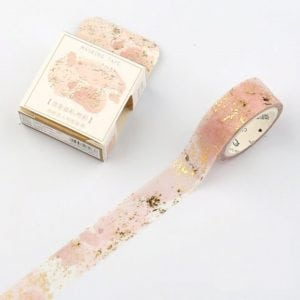 speckled rose wide washi tape new zealand