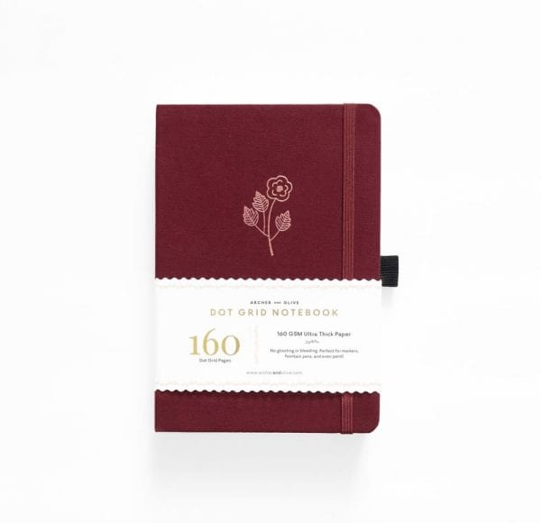 Rose Gold archer and olive dotted notebook buy product