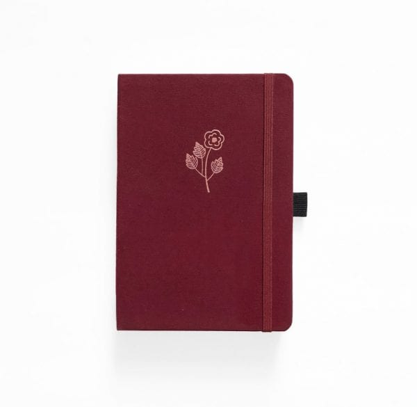 Rose Gold archer and olive dotted notebook buy product plain