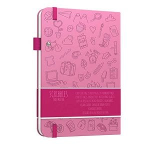 Scribbles That Matter Dotted A5 Notebook NZ Bullet Journal Iconic Pastel Pink backside