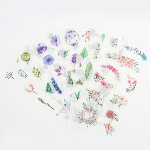 NATURE'S ACCENTS plants Spring leaves bullet journal planner stickers decorative sheets