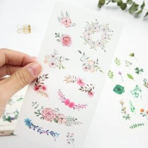 NATURE'S ACCENTS plants Spring leaves bullet journal planner stickers decorative sheets closeup