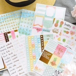 Summer vibes bullet journal planner stickers and washi tape new zealand cover