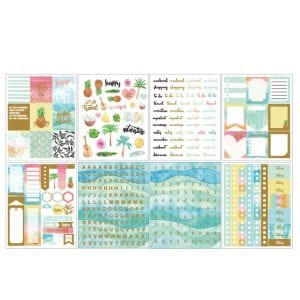 Summer vibes bullet journal planner stickers and washi tape new zealand (5 of 5)