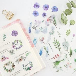 NATURE'S ACCENTS plants Spring leaves bullet journal planner stickers decorative