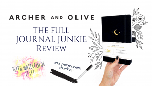 Archer & Olive dotted bullet journals the full journal junkie review with sharpie and watercolor