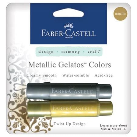 Faber-Castell Gelatos Buy Bullet Journal Supplies Silver and Gold Metallic