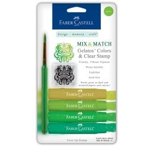 Faber-Castell Gelatos buy bullet journal supplies 4 pack green set