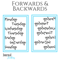 Handlettering weekdays for tracing in your bullet journal