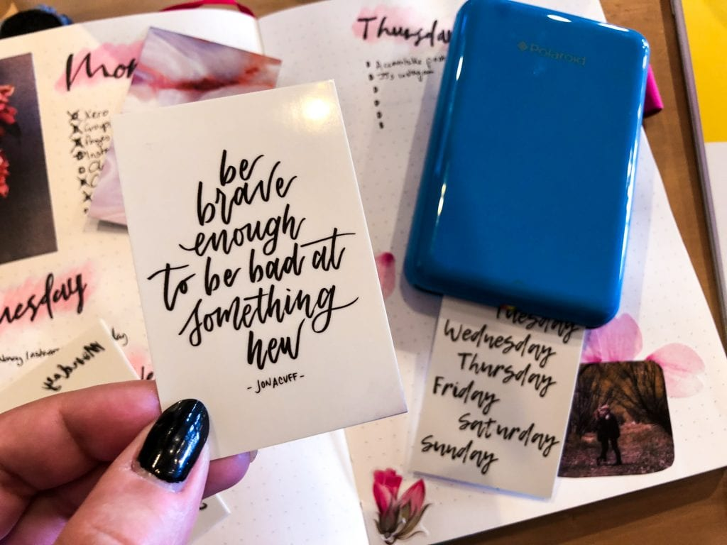 Polaroid Zip Printer for handletter and quotes in bullet journal (15 of 23)