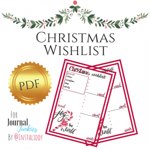 Christmas Wishlist Bullet Journal Printable