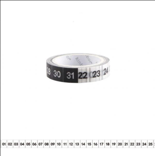 Planner washi tape dates monthly numbers for calendar spreads