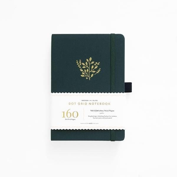archer and olive deep green dotted bullet journal buy new zealand australia