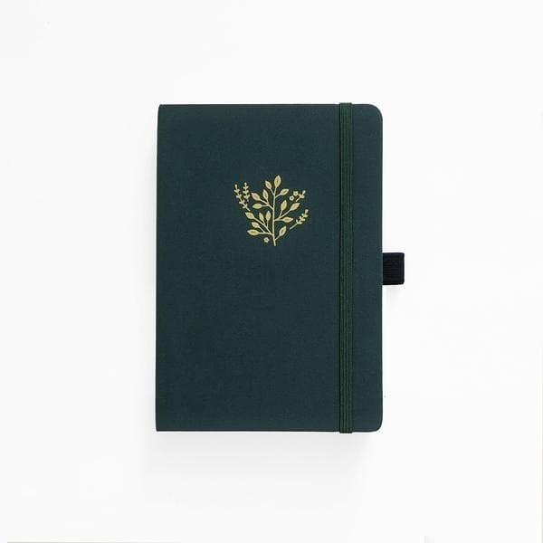 archer and olive deep green dotted bullet journal buy new zealand australia cover