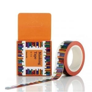 books on a shelf medium washi tape bullet journal decoration