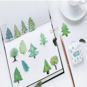 build a forest planner stickers bullet journal decoration tree pack example 1