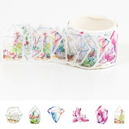 crystal terrariums washi tape stickers bullet journal decoration
