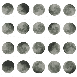 just a phase planner stickers bullet journal decoration moon phases pack example 2