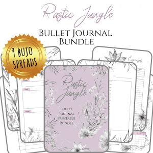 PDF Rustic jungle bullet journal printable pdf download for A5 A4 cover product