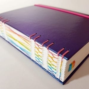Citrus Book Bindery Galaxy hand bound dotted notebook bigger than A5