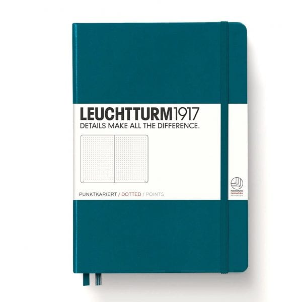 Leuchtturm1917 dotted notebook pacific green new zealand