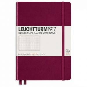 Leuchtturm1917 dotted notebook port red new zealand