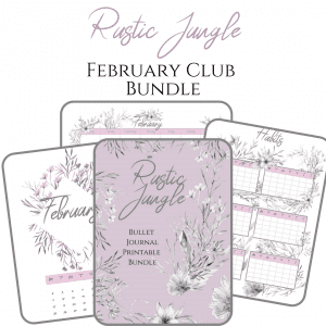 Rustic jungle bullet journal printable pdf download for A5 A4