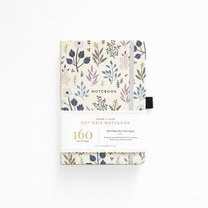 archer and olive dotted bullet journal notebook fall flowers