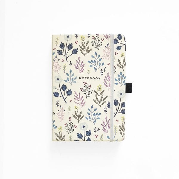 archer and olive dotted bullet journal notebook fall flowers no cover