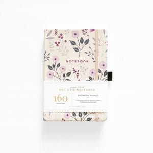 archer and olive dotted bullet journal notebook painted flowers