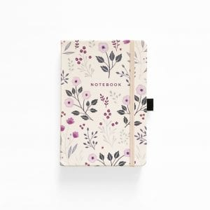archer and olive dotted bullet journal notebook painted flowers no cover