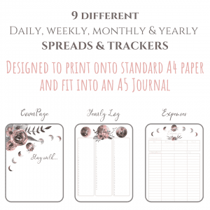 Stay Wild Download Bullet Journal PDF printable for planner, calendar - A4 and A5 first 3