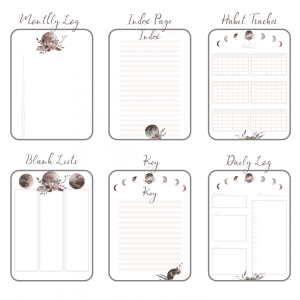 Stay Wild Download Bullet Journal PDF printable for planner, calendar - A4 and A5 main 6