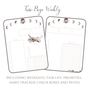 Stay Wild Download Bullet Journal PDF printable for planner, calendar - A4 and A5 weekly log