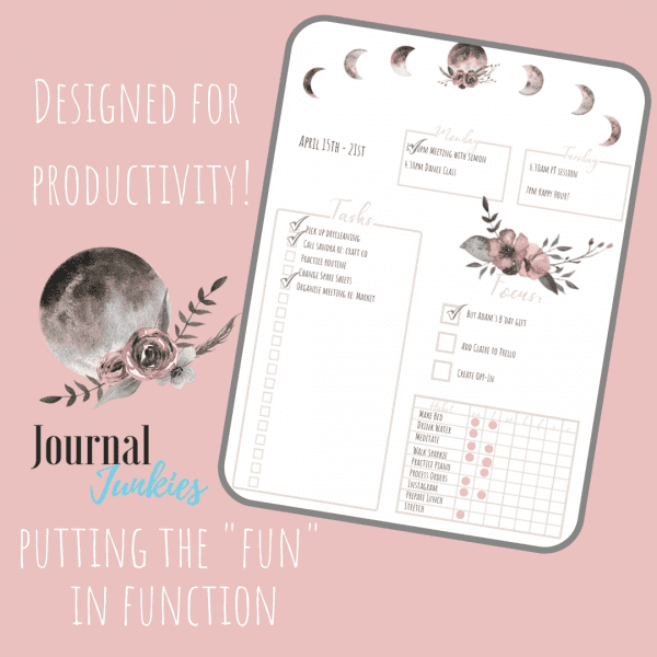 Stay Wild Download Bullet Journal PDF printable for planner, calendar - A4 and A5 weekly planner