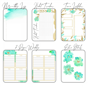 Fresh Starts bullet journal printable pdf download for A5 A4 final 6