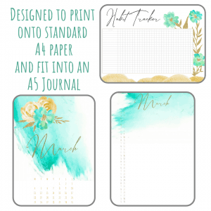 March 2019 Club Bundle bullet journal printable pdf download for A5 A4 (1)