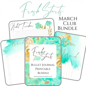 March Club Bundle bullet journal printable pdf download for A5 A4
