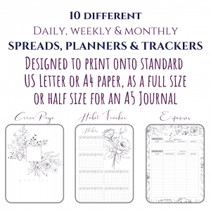 May You Bloom Bullet Journal Planner Calendar Bundle | PDF Download & Printable first 3