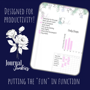 May You Bloom Bullet Journal Planner Calendar Bundle | PDF Download & Printable 2-page weekly mock up 2