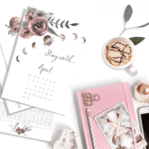 April Moon Child Bullet Journal download template promo Bundle April 2019