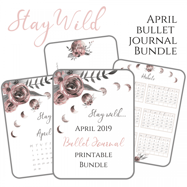 April Promo Moon Child PDF Bullet Journal Download printable Promo Cover (1)