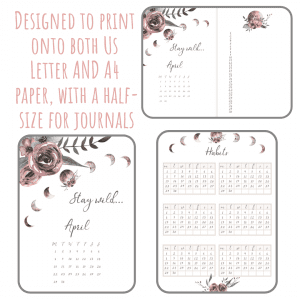 picture relating to Printable Journals titled Reside Wild April 2019 Bullet Magazine Planner Package PDF Down load  Printable